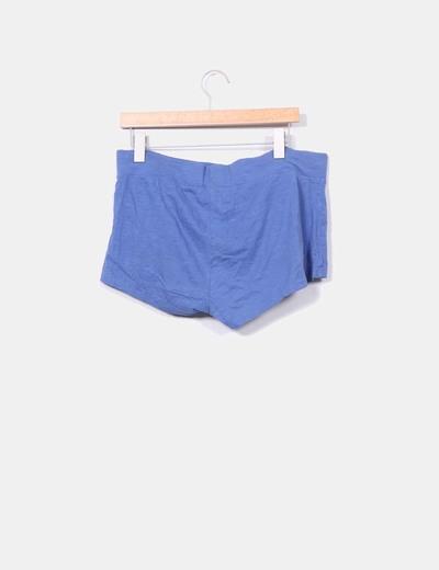 Shorts cortos azules