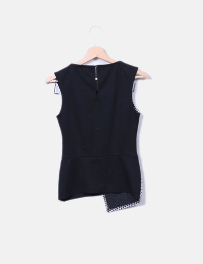 Camiseta combinada manga sisa