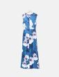 Mono largo azul estampado floral Baimih