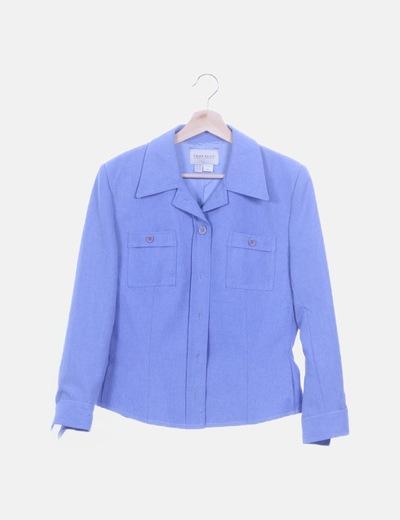 Conjunto chaqueta y pantalón azul cielo