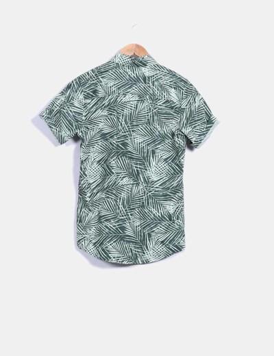 Camisa verde print tropical