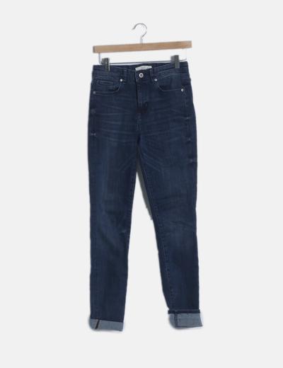 Jeans skinny con dobladillo