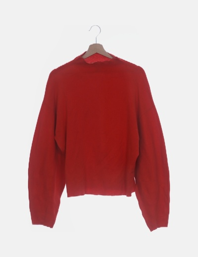 Jersey tricot roja oversize