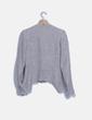 Chaqueta tricot azul y blanca Scripta