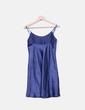 Vestido azul satinado El Corte Inglés