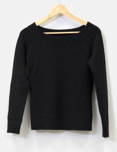 adec24ad5716d Zara Jersey punto negro cuello barco (descuento 89%) - Micolet