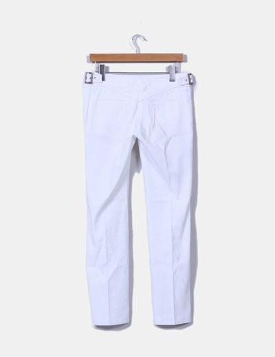 Pantalon blanco texturizado