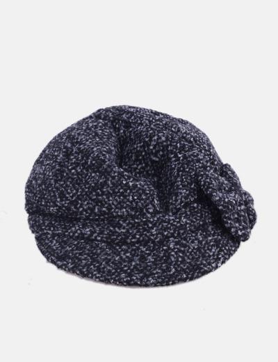 Gorra negra jaspeada