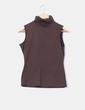 Camiseta marrón sin mangas cuello vuelto Porta fortuna