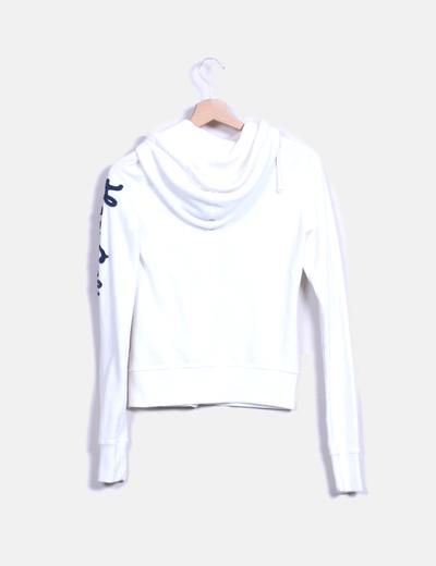 Sudadera con capucha blanca