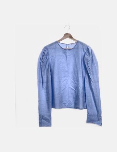 Blusa manga larga azul