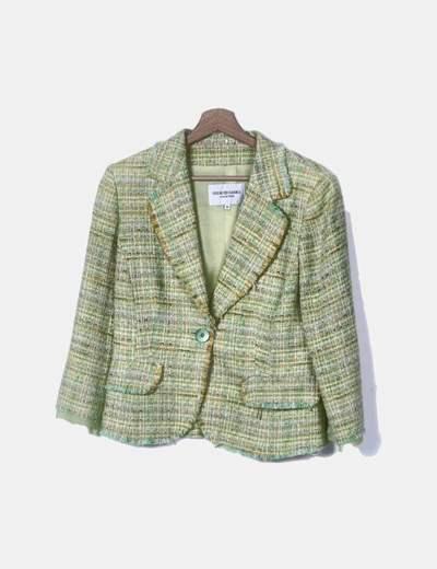Tranje verde tweed