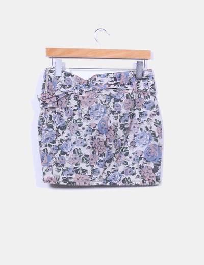 Falda mini floral