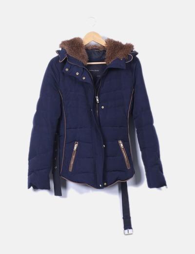 64d94d0ed55a0 Zara Plumas azul marino (descuento 71%) - Micolet