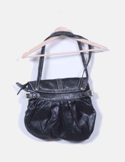 Bolso negro glitter con tachas