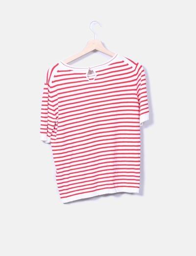Camiseta de punto con rayas