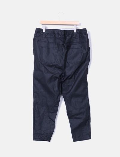 d9b25e36044 New Look Pantalón negro encerado tiro alto skinny (descuento 51%) - Micolet