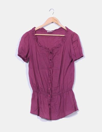 Blusa color vino C&A