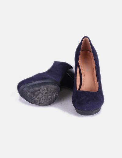 Zapatos antelina azul marino