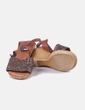Sandalia marrón trenzada Admas