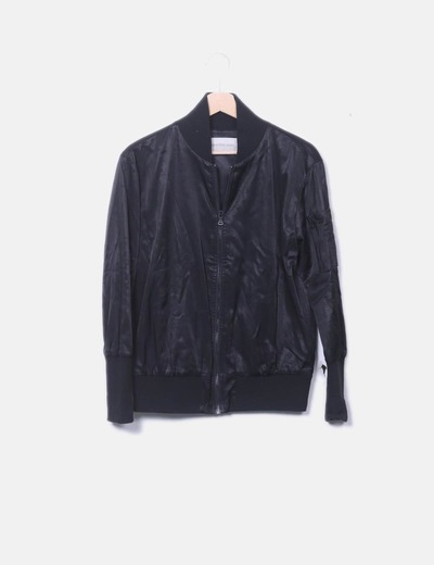 Bombardier satin noir Calvin Klein
