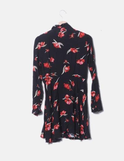 9ef17668a99 Zara Vestido camisero floreado (descuento 74%) - Micolet