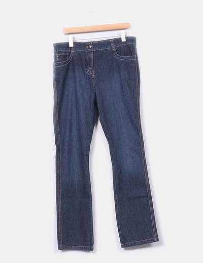 Jeans azul oscuro recto Ms mode