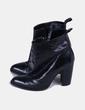 Botines negros de piel Zara