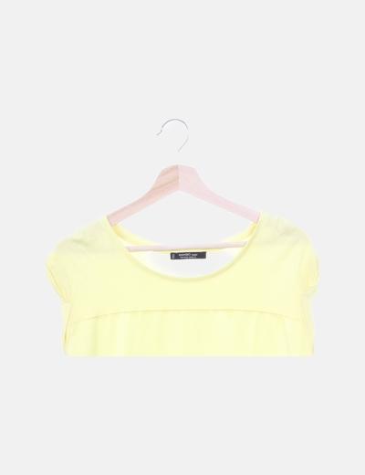 Camiseta amarilla satinada