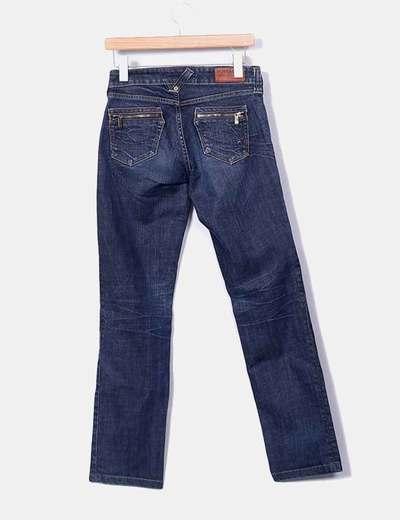 Pantalon recto denim oscuro