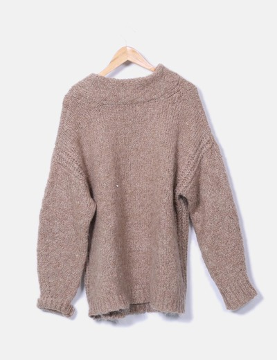 739d6527cb6c Zara Jersey de punto oversize (descuento 77 %) - Micolet