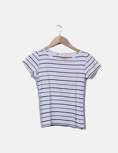 2250d672d16 Camiseta tricot blanco rayas marrónes Tommy Hilfiger