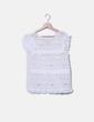 Blouse blanche texturé Sfera