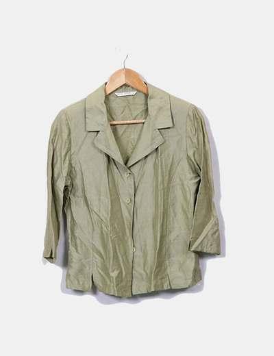 Camisa verde con hombreras Elisa Rivero