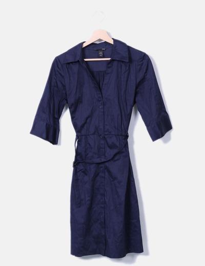 Robe bleu marine midi H&M