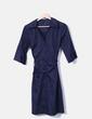 Vestido midi azul marino H&M
