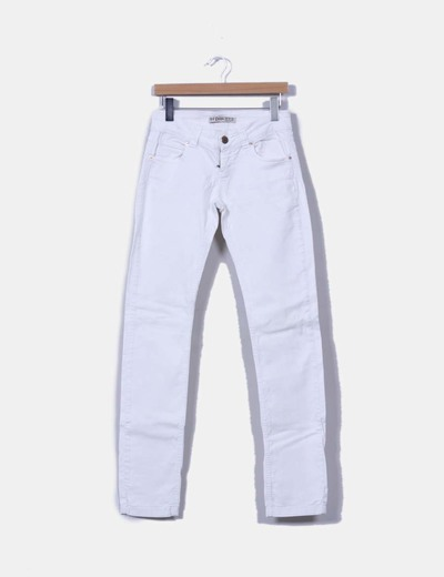Pantalon denim blanco