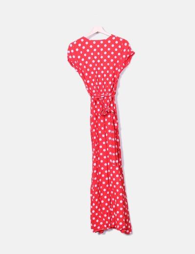 a1320a8abebf NoName Robe rouge maxi à pois blanc (réduction 42%) - Micolet