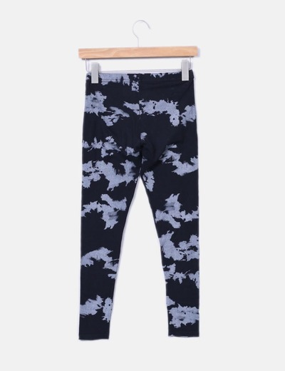 Legging negro estampado