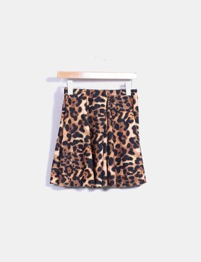 b0282204f Zara Falda skater animal print (descuento 80%) - Micolet