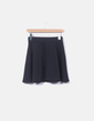 Falda negra de algodón Fishbone