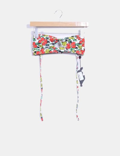 Parte superior bikini floral fruit Motel