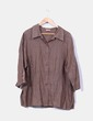 Camisola marrón detalle mangas bordadas NoName