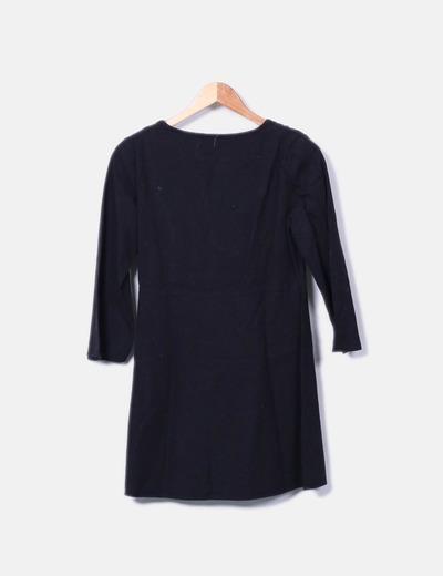 Vestido negro escote velvet