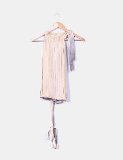 Blusa de seda con tablas  Massimo Dutti