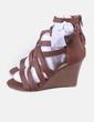 Sandales marrons à brides JustFab