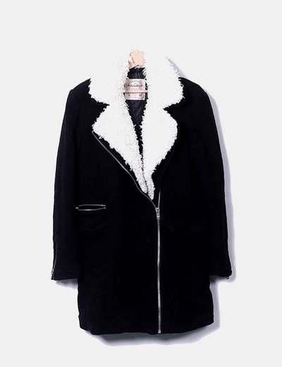 Manteau avec col en peau de mouton Pull&Bear