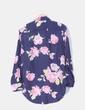 Camisa floral tail hem Walktrendy