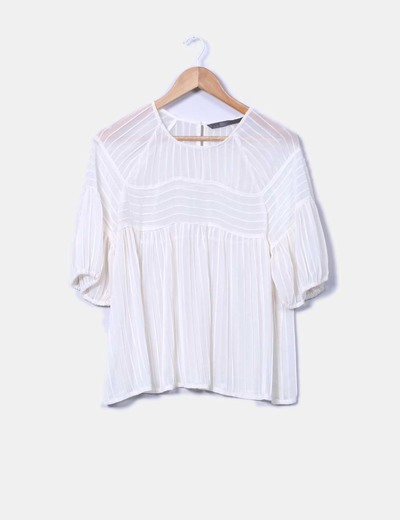 Blusa semitransparente Zara