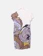Vestido de gasa con manga corta Hoss Intropia